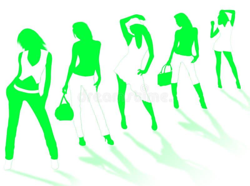 μοντέλο κοριτσιών απεικόνιση αποθεμάτων
