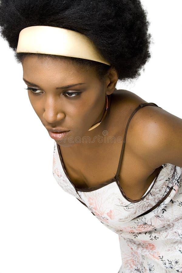 μοντέλο μόδας αφροαμερι&kap στοκ εικόνα με δικαίωμα ελεύθερης χρήσης