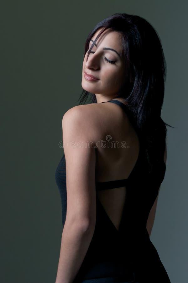 Download μοντέλο μόδας στοκ εικόνα. εικόνα από τρίχωμα, καυτός, προκλητικός - 380571