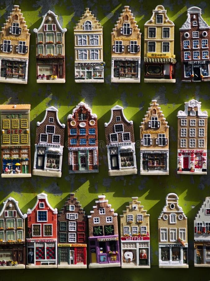 μοντέλο σπιτιών του Άμστερνταμ στοκ εικόνες