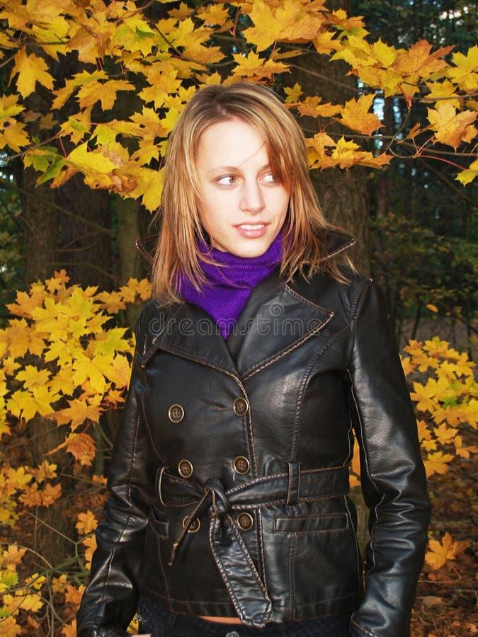 μοντέλο φθινοπώρου στοκ φωτογραφία με δικαίωμα ελεύθερης χρήσης