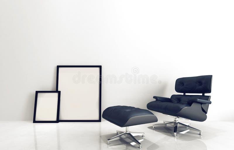 Μοντέρνα έδρα και σκαμνί με τα πλαίσια εικόνων ελεύθερη απεικόνιση δικαιώματος