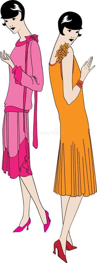 μοντέρνα κορίτσια διανυσματική απεικόνιση