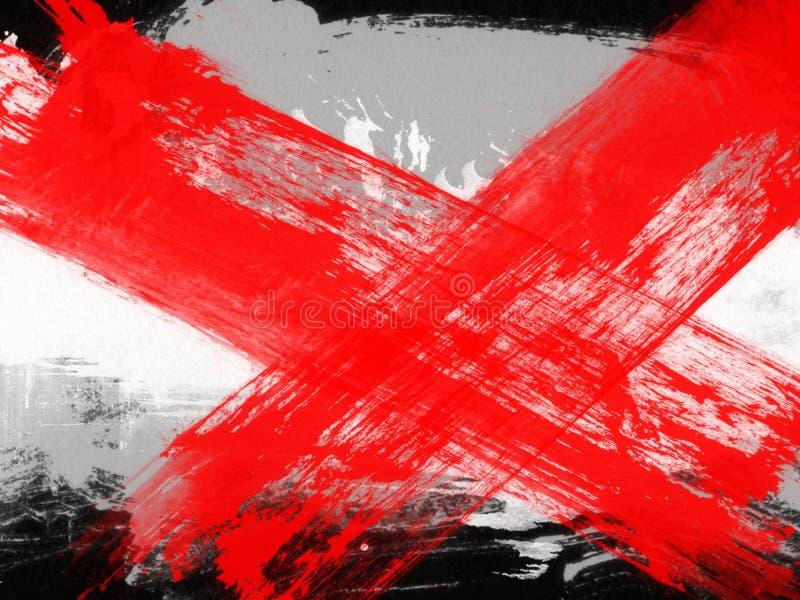 Μοντέρνα υπόβαθρα στο ύφος grunge στα μαύρα και κόκκινα χρώματα στοκ φωτογραφία