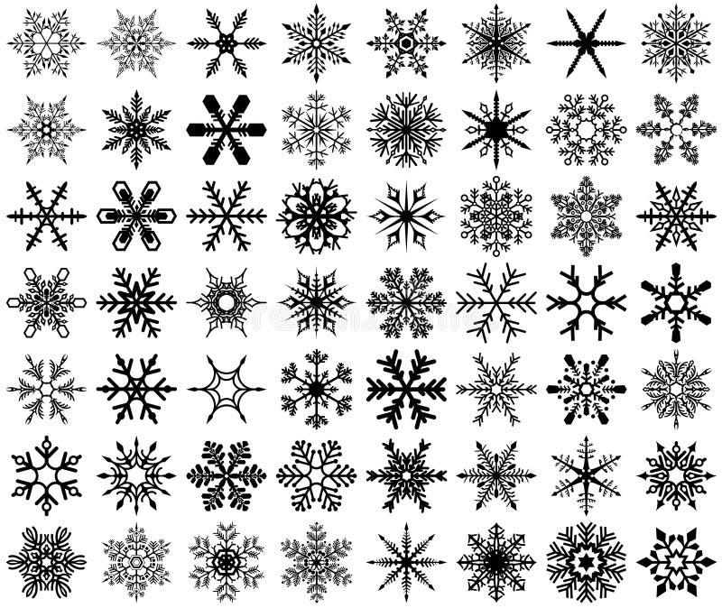 Μοντέρνα Snowflakes καθορισμένα απεικόνιση αποθεμάτων