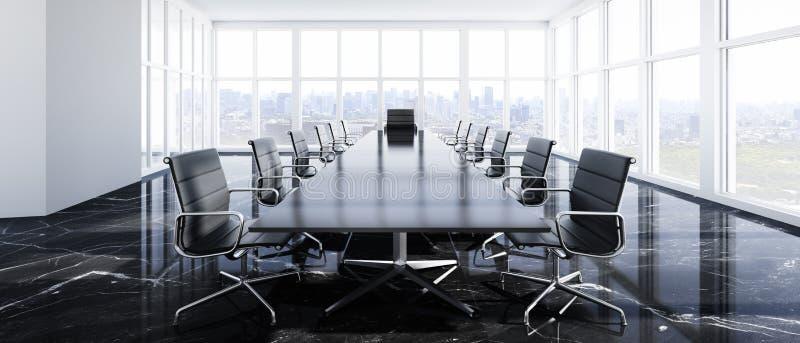 Μοντέρνη αίθουσα συνεδριάσεων σε ένα υψηλό κτήριο ανόδου ελεύθερη απεικόνιση δικαιώματος