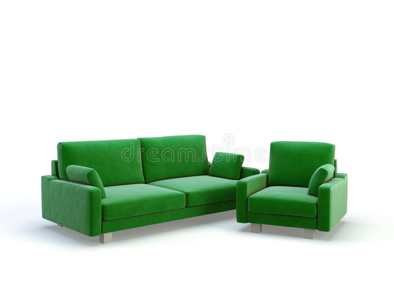 μοντέρνη βιολέτα καναπέδων διανυσματική απεικόνιση