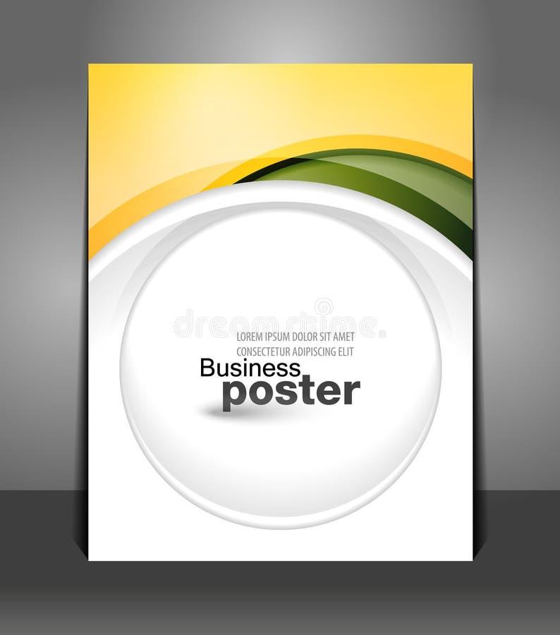 Μοντέρνη παρουσίαση της επιχειρησιακής αφίσας διανυσματική απεικόνιση
