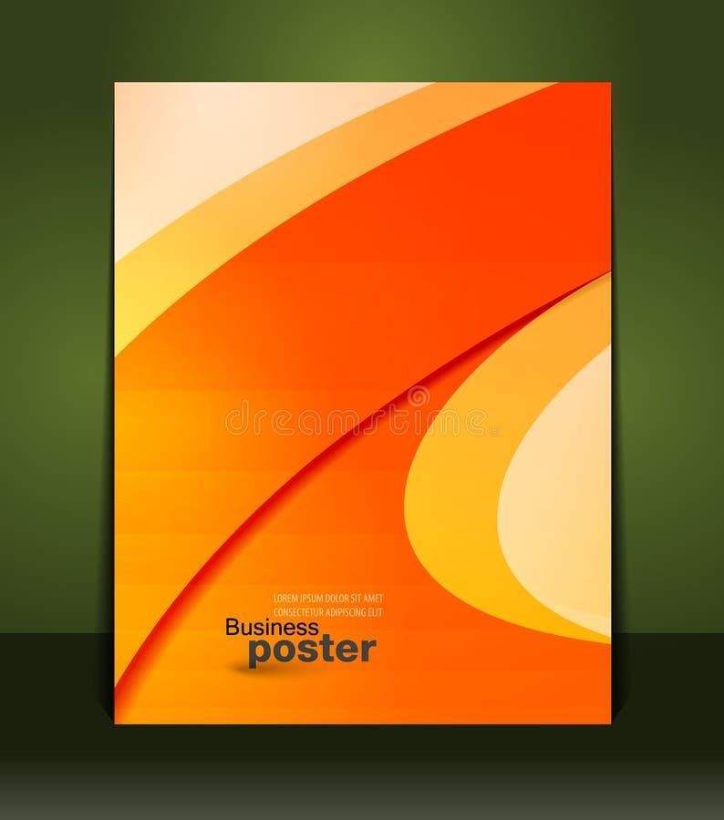 Μοντέρνη παρουσίαση της επιχειρησιακής αφίσας απεικόνιση αποθεμάτων