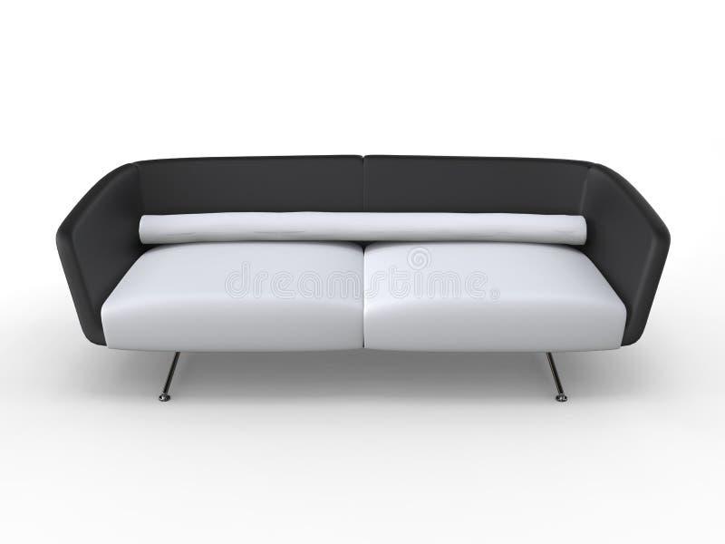 Μοντέρνος σύγχρονος καναπές - τοπ άποψη στοκ εικόνα με δικαίωμα ελεύθερης χρήσης