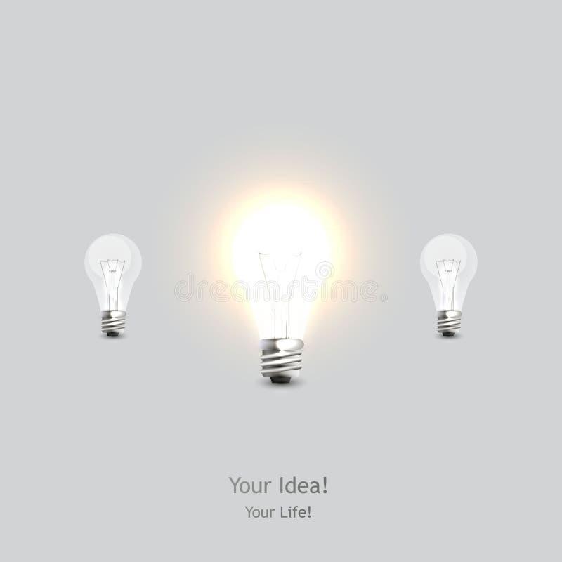 Μοντέρνο εννοιολογικό ψηφιακό σχέδιο ιδέας λαμπών φωτός απεικόνιση αποθεμάτων