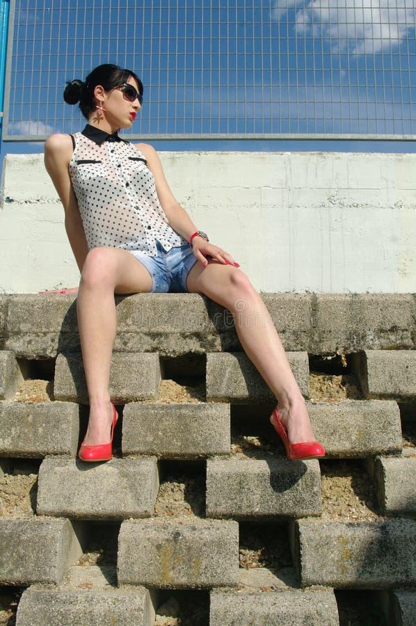 Μοντέρνο κορίτσι στοκ εικόνα