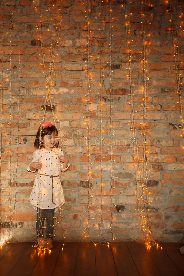 Μοντέρνο μικρό κορίτσι στοκ εικόνα
