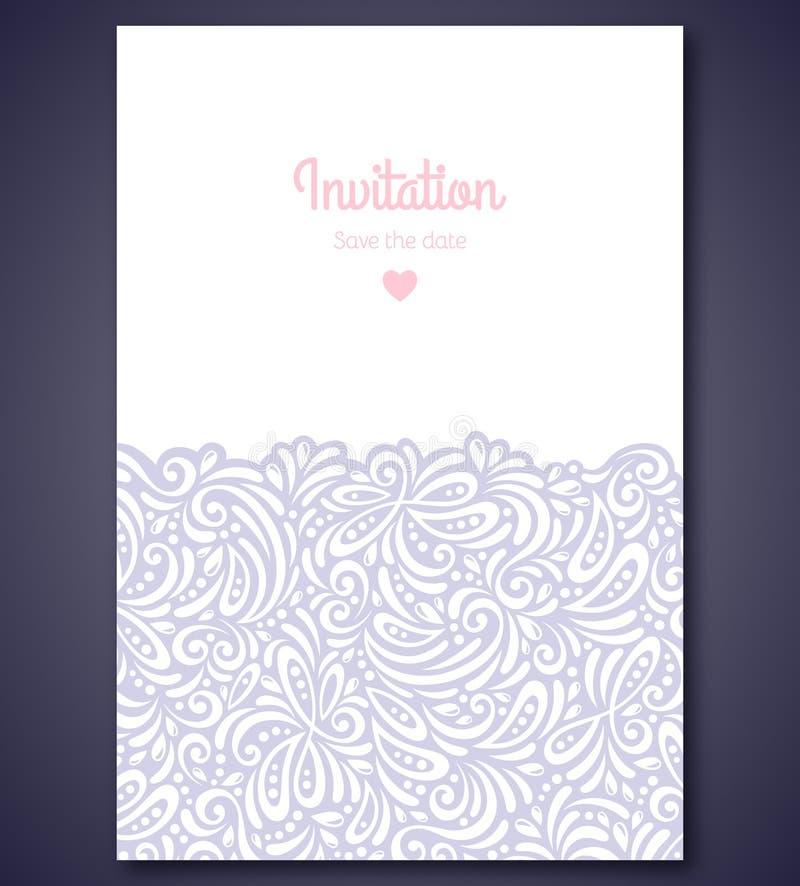 Μοντέρνο πρότυπο καρτών γαμήλιας πρόσκλησης με απεικόνιση αποθεμάτων
