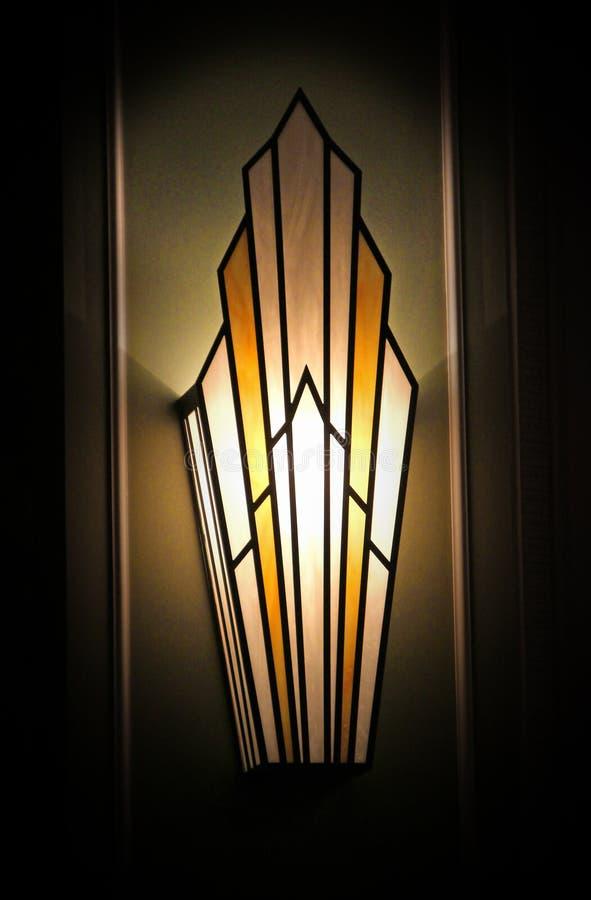 Μοντέρνο φως τοίχων deco τέχνης στοκ εικόνα με δικαίωμα ελεύθερης χρήσης