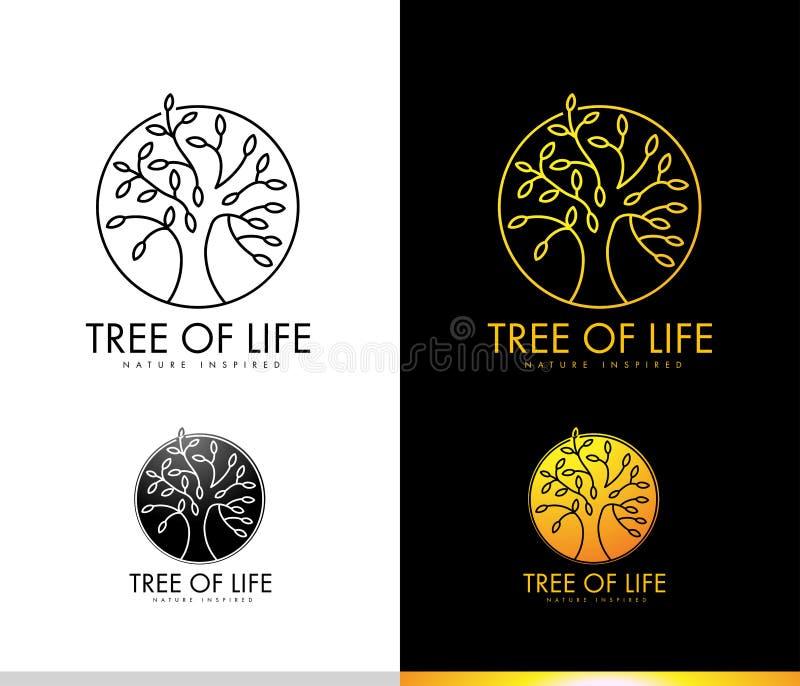 Μονόγραμμα λογότυπων δέντρων ελεύθερη απεικόνιση δικαιώματος
