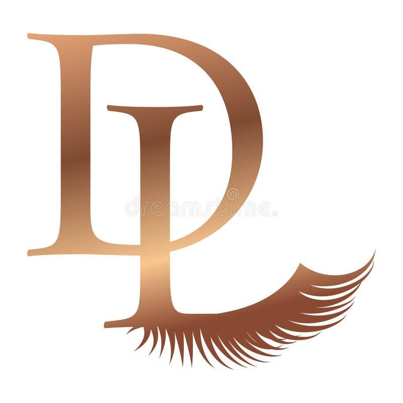 Μονόγραμμα dl LD δ λ λογότυπων λογότυπων Δ Λ απεικόνιση αποθεμάτων