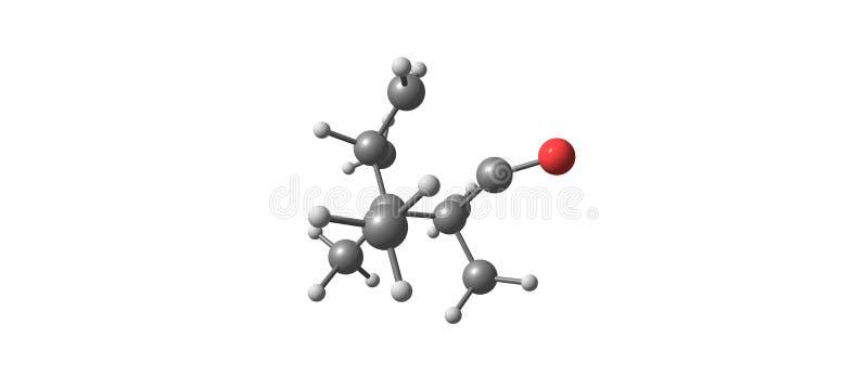 Μοριακή δομή καμφοράς που απομονώνεται στο άσπρο υπόβαθρο απεικόνιση αποθεμάτων