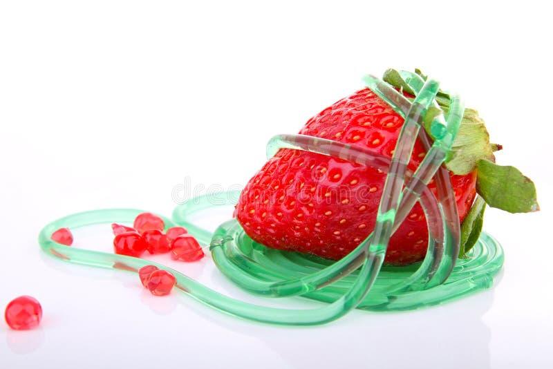 μοριακή φράουλα τροφίμων στοκ φωτογραφία με δικαίωμα ελεύθερης χρήσης