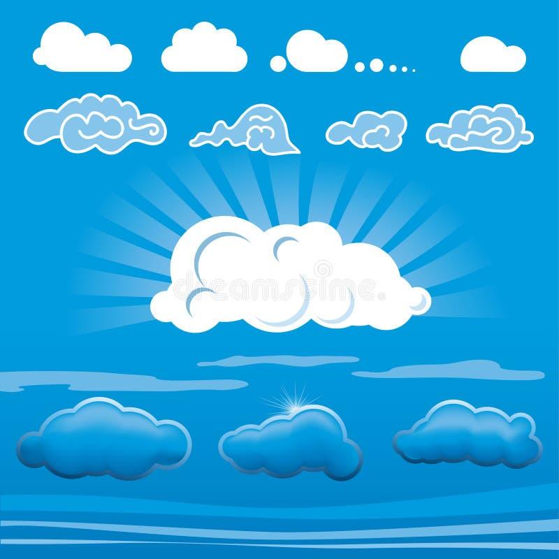 μορφές σύννεφων διανυσματική απεικόνιση