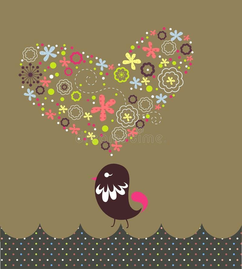 μορφή αγάπης χλωρίδας καρτών απεικόνιση αποθεμάτων