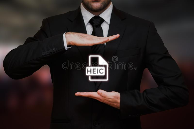 Μορφή αρχείου HEIC εικόνας υψηλής αποδοτικότητας στοκ εικόνες