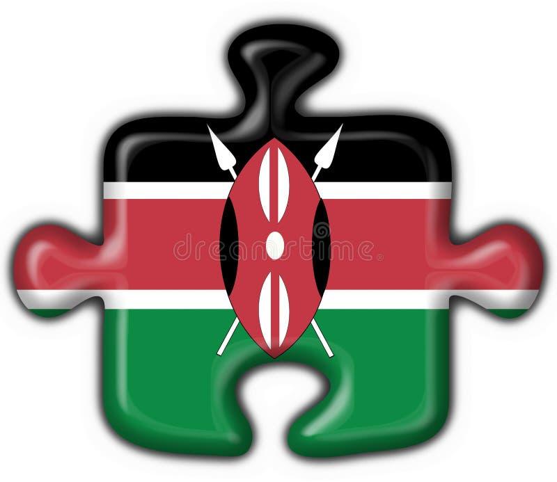 μορφή γρίφων της Κένυας σημαιών κουμπιών ελεύθερη απεικόνιση δικαιώματος