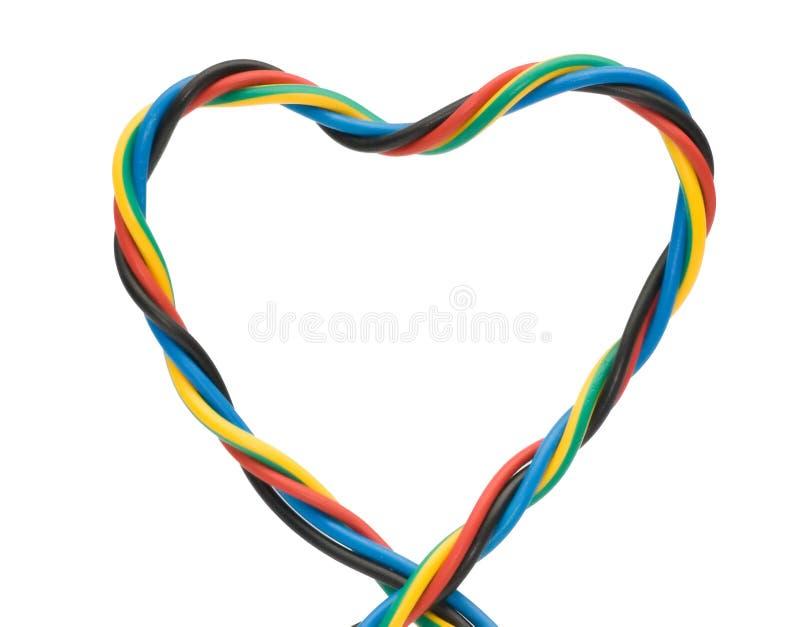 μορφή καρδιών καλωδίων στοκ φωτογραφία με δικαίωμα ελεύθερης χρήσης