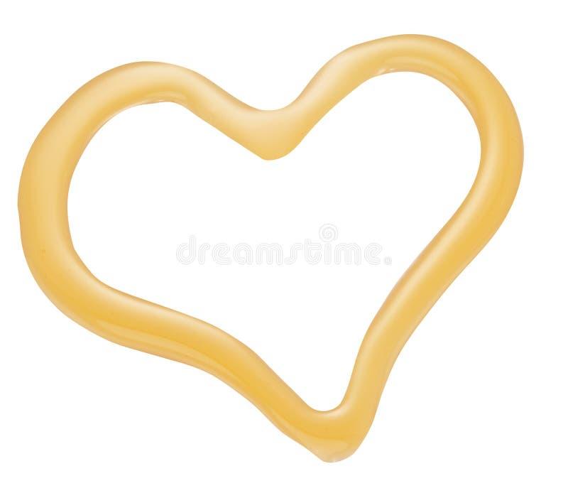 Μορφή καρδιών μελιού στοκ φωτογραφία