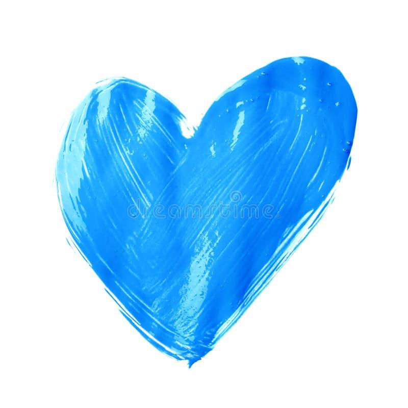 Μορφή καρδιών που σύρεται με το ελαιόχρωμα στοκ εικόνα με δικαίωμα ελεύθερης χρήσης