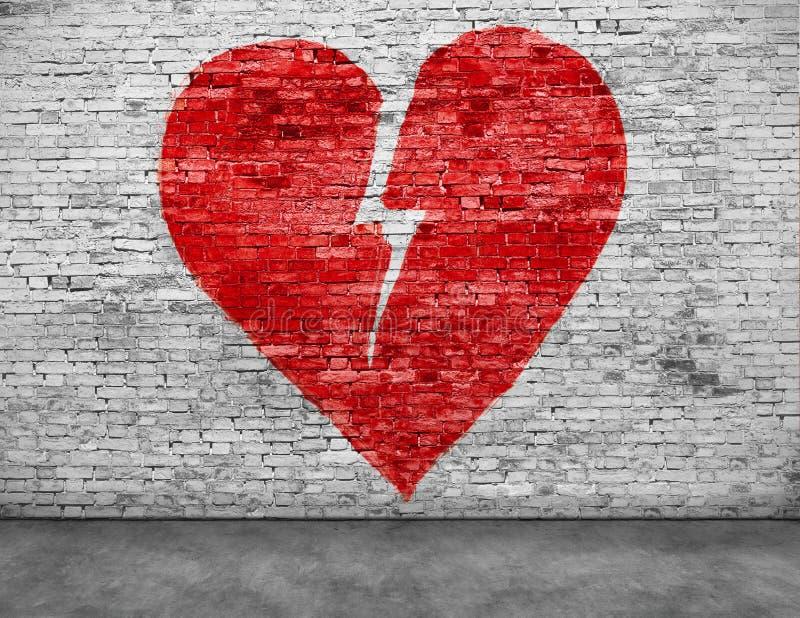 Μορφή της σπασμένης καρδιάς στοκ εικόνες