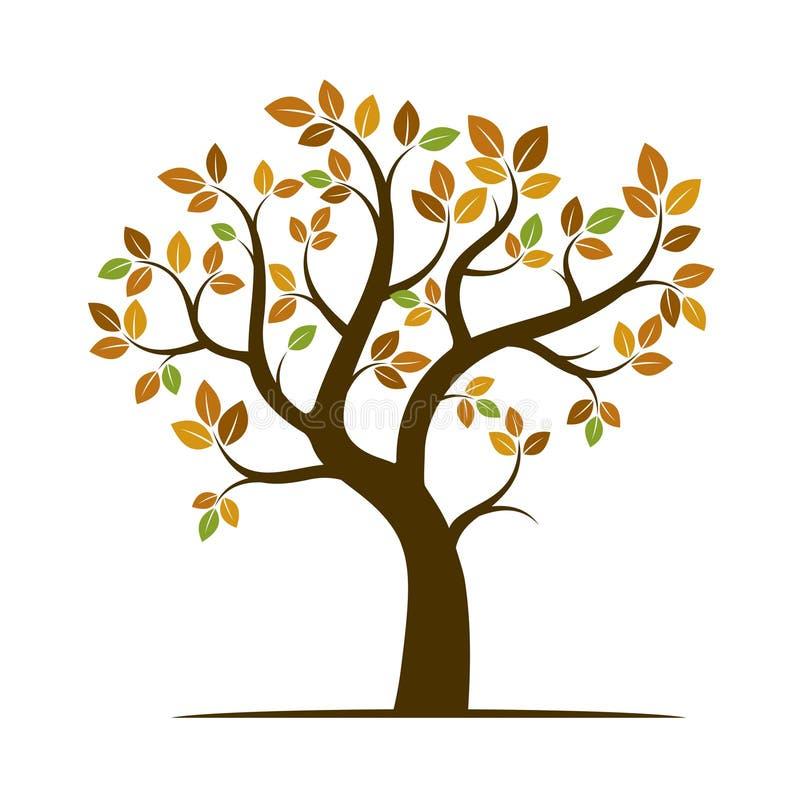 Μορφή του δέντρου φθινοπώρου επίσης corel σύρετε το διάνυσμα απεικόνισης απεικόνιση αποθεμάτων