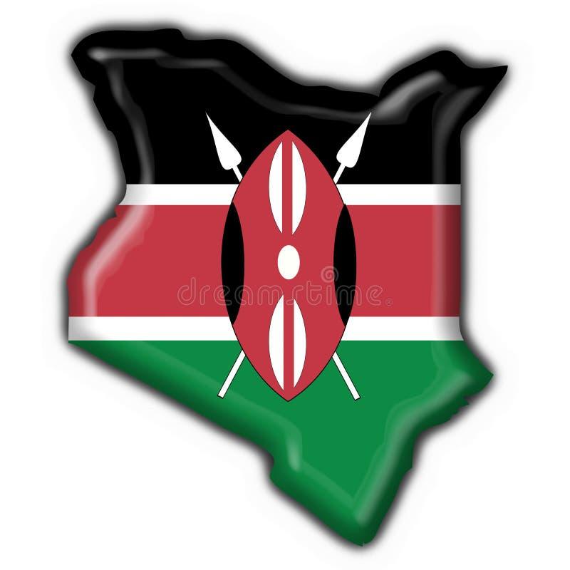 μορφή χαρτών της Κένυας σημαιών κουμπιών ελεύθερη απεικόνιση δικαιώματος