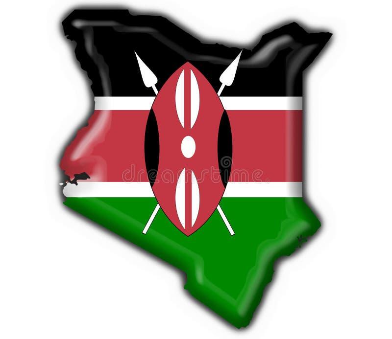 μορφή χαρτών της Κένυας σημαιών κουμπιών απεικόνιση αποθεμάτων
