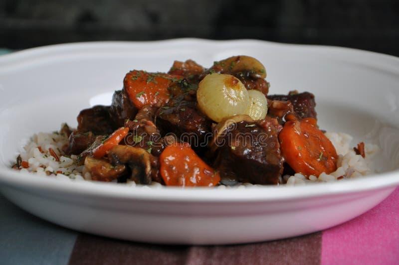 Μοσχαρίσιο κρέας bourguignon στοκ εικόνα με δικαίωμα ελεύθερης χρήσης