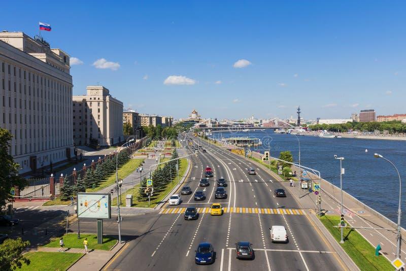 ΜΟΣΧΑ, ΡΩΣΙΑ - 4 Ιουλίου: Το πανόραμα της Μόσχας, άποψη στο Frunze στοκ φωτογραφία με δικαίωμα ελεύθερης χρήσης