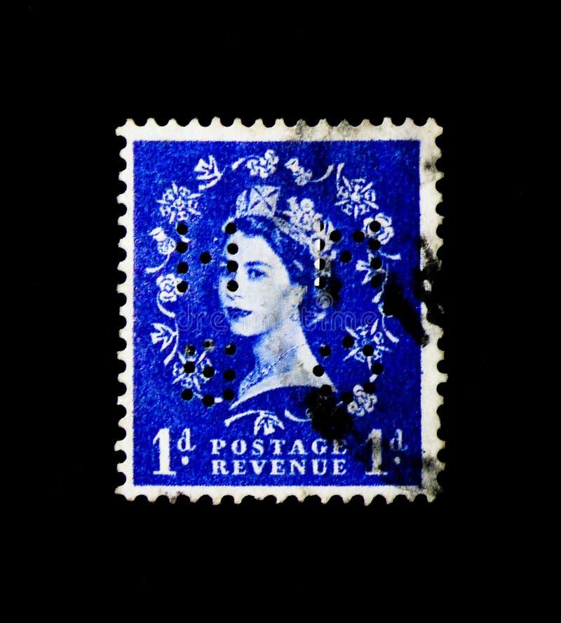 ΜΟΣΧΑ, ΡΩΣΙΑ - 24 ΝΟΕΜΒΡΊΟΥ 2017: Ένα γραμματόσημο που τυπώνεται σε μεγάλο Bri στοκ εικόνες