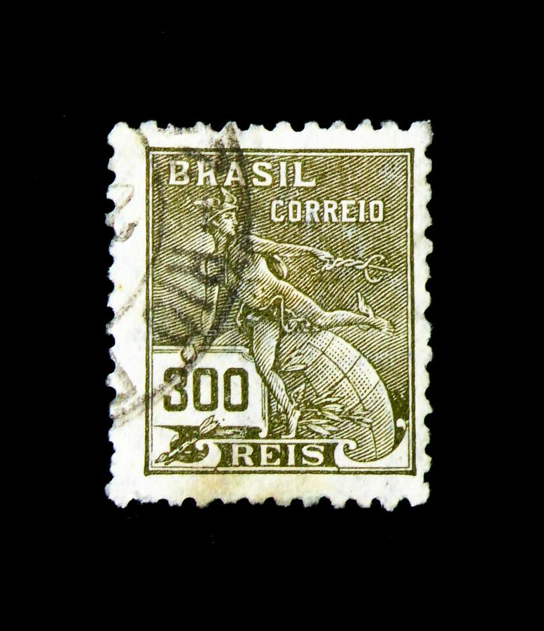 ΜΟΣΧΑ, ΡΩΣΙΑ - 23 ΝΟΕΜΒΡΊΟΥ 2017: Ένα γραμματόσημο που τυπώνεται στη Βραζιλία SH στοκ φωτογραφία με δικαίωμα ελεύθερης χρήσης