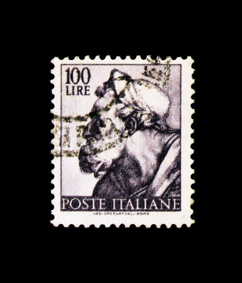 ΜΟΣΧΑ, ΡΩΣΙΑ - 24 ΝΟΕΜΒΡΊΟΥ 2017: Ένα γραμματόσημο που τυπώνεται στο sho της Ιταλίας στοκ εικόνα με δικαίωμα ελεύθερης χρήσης