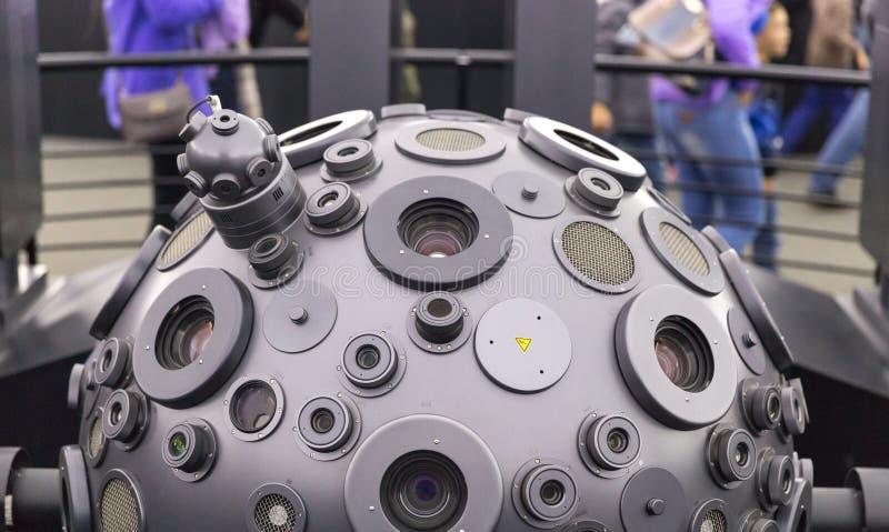 ΜΟΣΧΑ, ΡΩΣΙΑ - 28 ΣΕΠΤΕΜΒΡΊΟΥ: Ο optomechanical προβολέας Cosmorama του πλανηταρίου στη Μόσχα Το πλανητάριο παρουσιάζει στοκ εικόνες με δικαίωμα ελεύθερης χρήσης