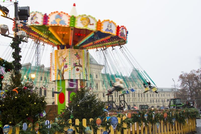 ΜΟΣΧΑ, ΡΩΣΙΑ - το Δεκέμβριο του 2017: Ιπποδρόμιο στο κέντρο της Μόσχας, που ιδρύεται στα πλαίσια του ταξιδιού φεστιβάλ ` στο CH στοκ φωτογραφία με δικαίωμα ελεύθερης χρήσης