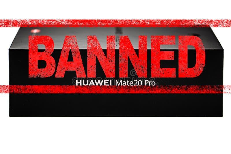 ΜΟΣΧΑ, ΡΩΣΙΚΉ ΟΜΟΣΠΟΝΔΊΑ - 24 Μαΐου 2019: Αφότου προσθέτει η διοίκηση ατού Huawei σε μια εμπορική μαύρη λίστα, Google έχει αναστε στοκ φωτογραφία με δικαίωμα ελεύθερης χρήσης