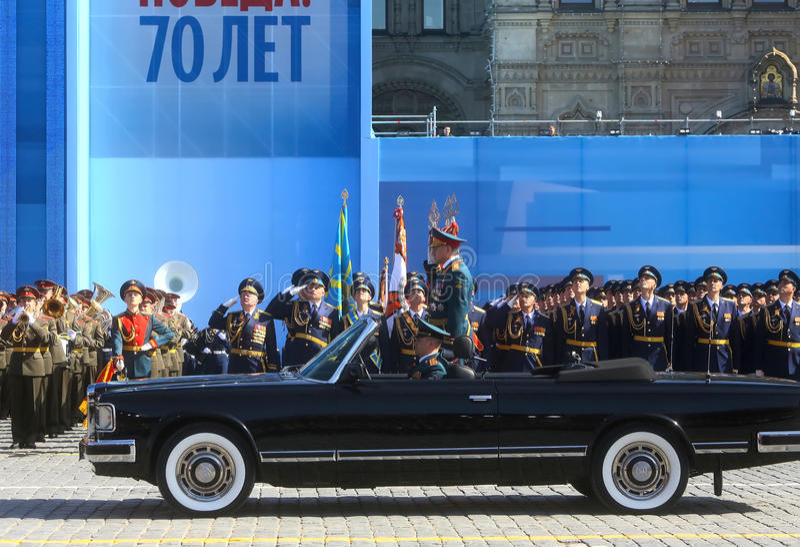 ΜΟΣΧΑ, ΣΤΙΣ 7 ΜΑΐΟΥ 2015: Ρωσικός αμυντικός Υπουργός, στρατός στρατηγός Serge στοκ φωτογραφία με δικαίωμα ελεύθερης χρήσης