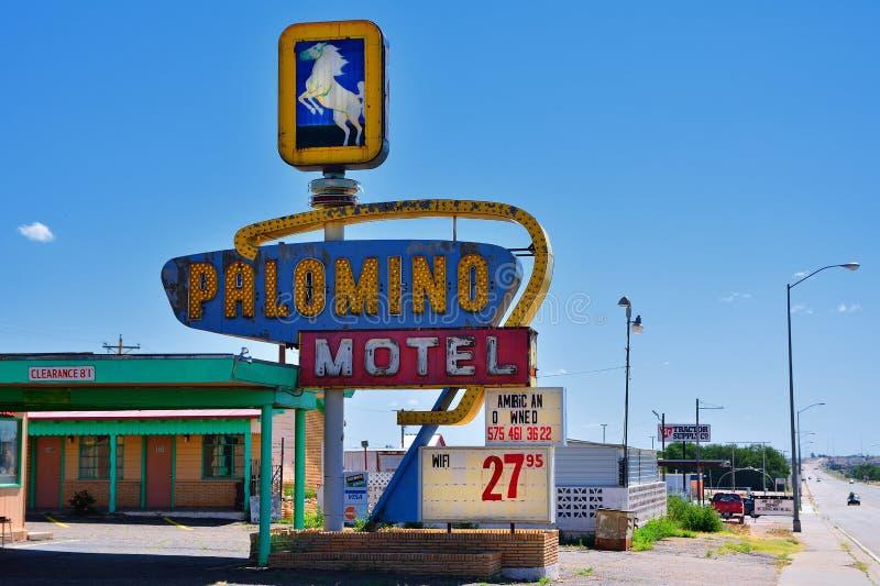 Μοτέλ Palomino στην ιστορική διαδρομή 66 στοκ φωτογραφία με δικαίωμα ελεύθερης χρήσης