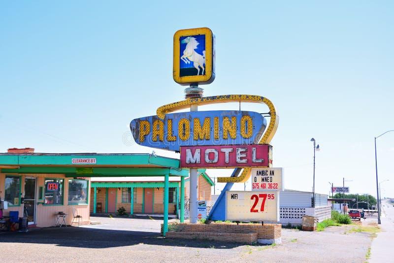 Μοτέλ Palomino στην ιστορική διαδρομή 66 στοκ εικόνες με δικαίωμα ελεύθερης χρήσης
