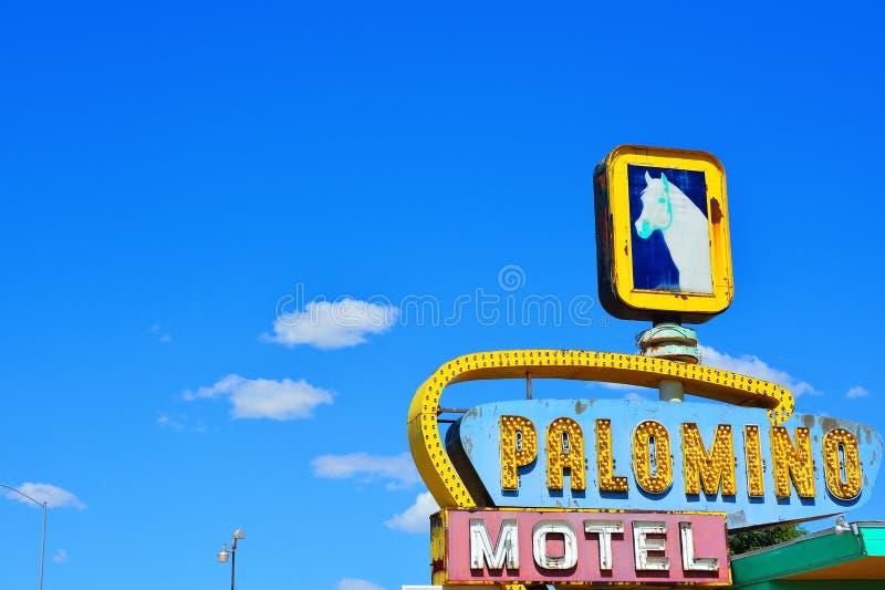 Μοτέλ Palomino στην ιστορική διαδρομή 66 στοκ εικόνες