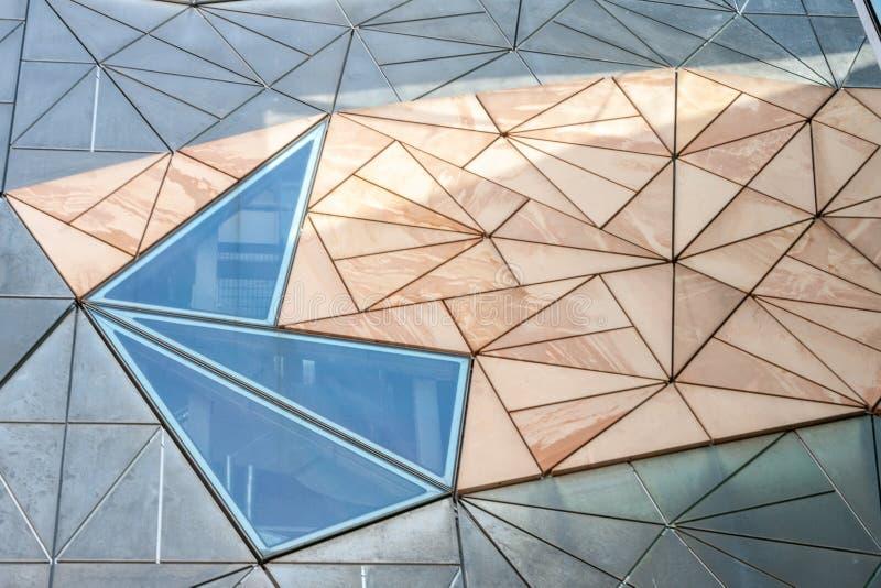 Μοτίβο στην αρχιτεκτονική τοίχου του Ian Potter Center, Μελβούρνη Αυστραλία στοκ εικόνα με δικαίωμα ελεύθερης χρήσης