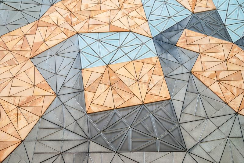 Μοτίβο στην αρχιτεκτονική τοίχου του Ian Potter Center, Μελβούρνη Αυστραλία στοκ φωτογραφία