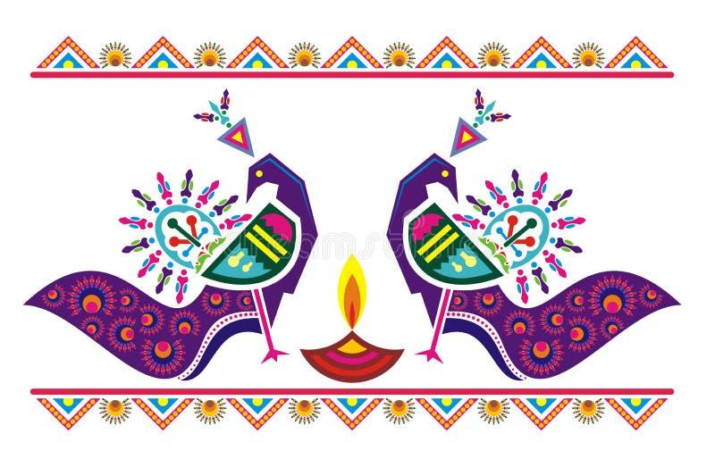 Μοτίβο Peacock συμμετρίας απεικόνιση αποθεμάτων