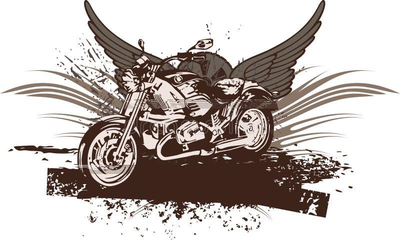 μοτοσικλέτα ανασκόπηση&sigmaf διανυσματική απεικόνιση